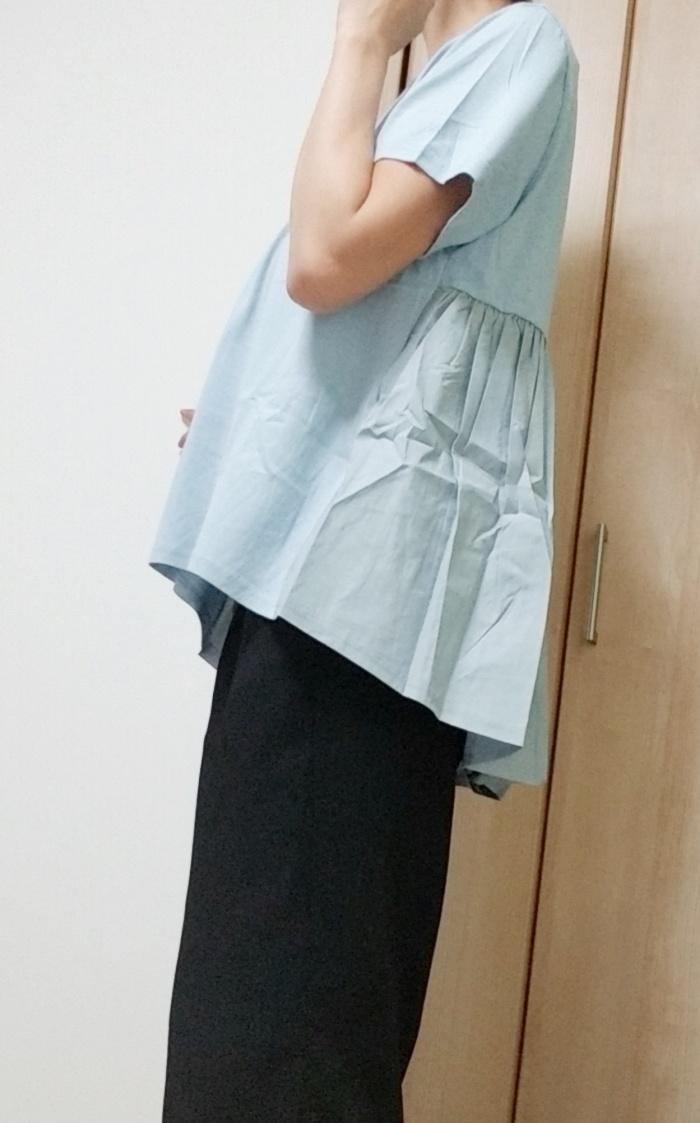 大人可愛いバックフレアTシャツ試着レビュー!サラッと着れてきれいめコーデ