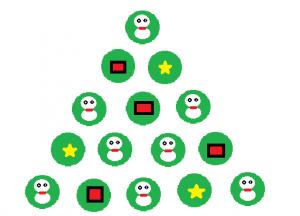 画用紙で作れるクリスマスの飾り付け