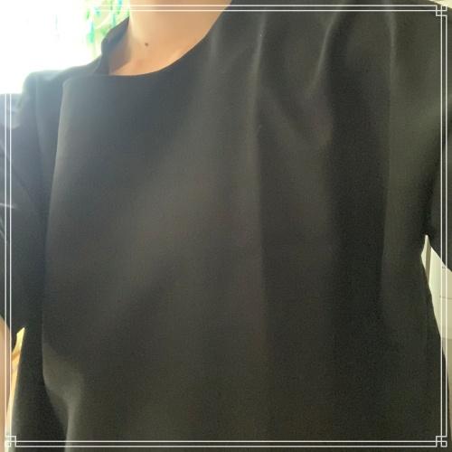 プラウPRAUの春夏シフォンブラウス写真付きレビュー!七分袖で女性らしく華奢な印象に♪