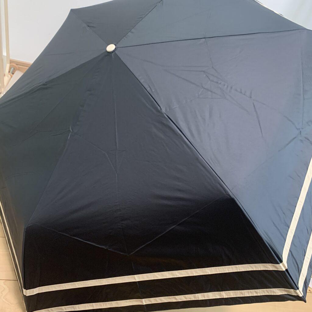 完全遮光 日傘 自動開閉 3段折り 折りたたみ傘 親骨55cm